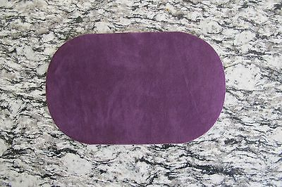 "#5113D Lot 2Pcs 7"" Purple Oval Elbow Knee Patches Repair Appliqué"