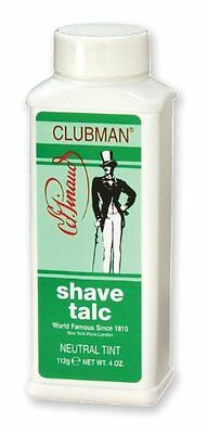 Pinaud Clubman Shave Talc NEUTRAL TINT 4 oz (Face Powder)