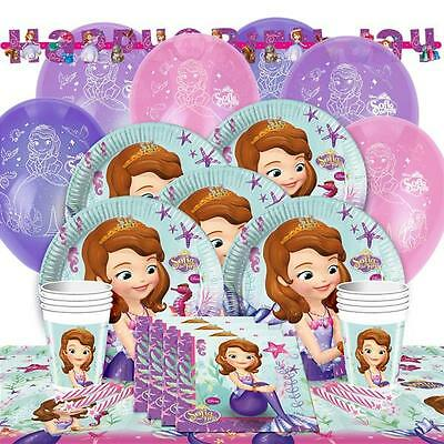 Sofia The 1st Kit For 16 Girls Birthday Party Tableware Supplies Decorations