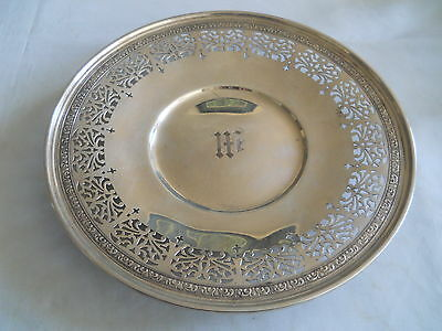 """Birks Sterling Footed Dish Serrated Border 314 Grams 9.75"""" D"""
