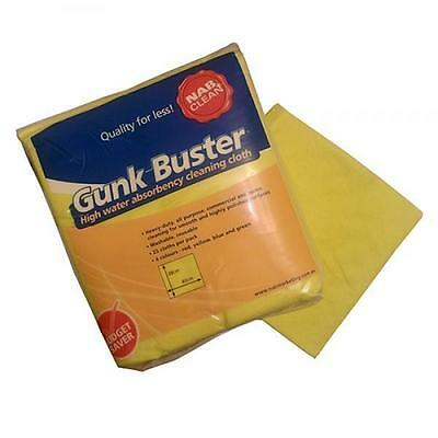 Gunk Buster Extra Heavy Duty Cleaning Cloths, Yellow, Packet of 25, Cafe / Bar