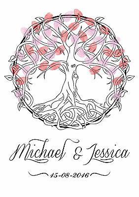 Wedding Thumbprint Tree Of Life Customisable Names And Dates Download Reception