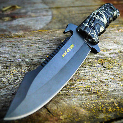 """10"""" TACTICAL SURVIVAL Zombie Hunting FIXED BLADE KNIFE Army Bowie w/ SHEATH"""