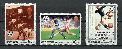 s6264) KOREA 1988 MNH** WC Football'90 - CM Calcio 3v.