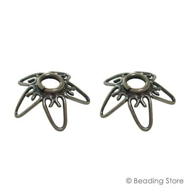 2 or 20 925 Sterling Silver 16mm LARGE Handcrafted Bead Caps Oxidized Findings