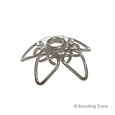 2 or 20 925 Sterling Silver 16mm LARGE Handcrafted Bead Caps Beading Findings