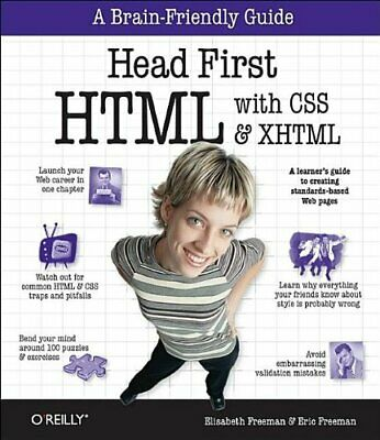 Head First HTML with CSS & XHTML by Eric Freeman Paperback Book The Cheap Fast