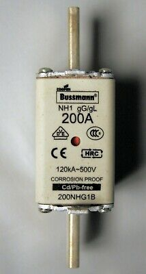 Bussman Centered Tag Fuse 200Amp 200Nhg1B - New Old Stock