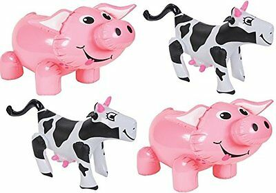 Inflatable Farm Animals - Set of 4 2 Pigs, 2 Cows