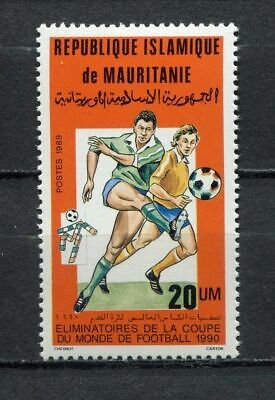 s6423) MAURITANIE 1990 MNH** WC Football'90- CM Calcio 1v