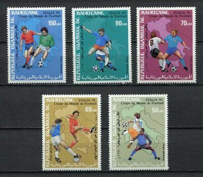 s6427) MAURITANIE 1990 MNH** WC Football'90- CM Calcio 5v