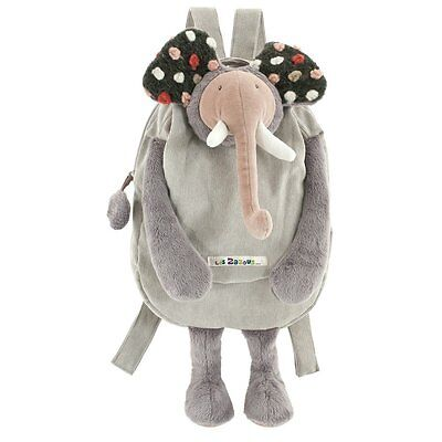 Moulin Roty Magicforest Les Zazous Toddler Preschool Elephant Animal Backpack