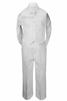 4pc Baby Kid Teen Boy Formal Wedding Communion Baptism Confirmation Suit sz S-20