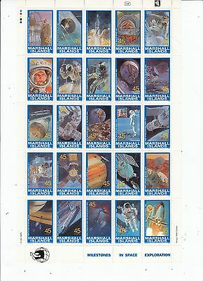 MARSHALL ISLANDS  : 1989 Milestones in Space Exploration  sheetlet SG259a MNH