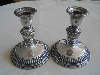 2 Birks Sterling Candlesticks Gadroon Edge 5.25""