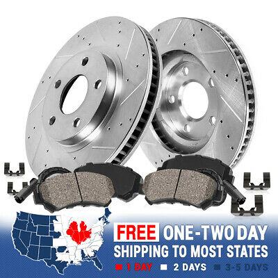 Front Drilled Slotted Brake Rotors & Ceramic Pads Mercedes Benz E320 E350 W211