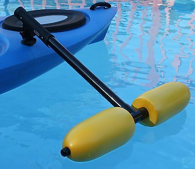 Kayak Outriggers / Stabilizers - YELLOW for Sight  Fishing, Standing & Beginners