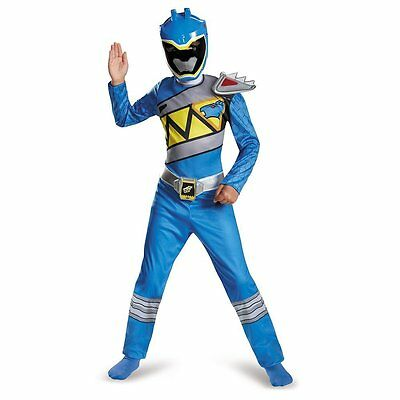 Disguise Power Rangers Blue Ranger Dino Charge Classic Costume Large (10-12) NEW