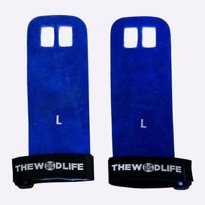 Leather Gymnastics Grips - Blue The WOD Life Crossfit