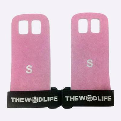 New The WOD Life - Leather Gymnastics Grips - Pink from The WOD Life