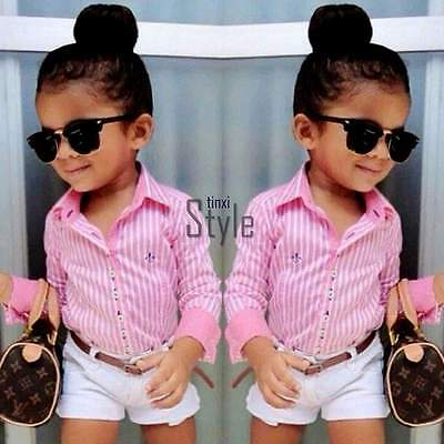 Toddler Kids Baby Girls Outfit Clothes T-Shirt Tops+Pants Shorts 2Pcs Set 2-7Y