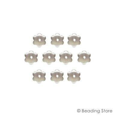 Various 925 Sterling Silver 7mm Bead Caps Cap Findings 1mm Hole BEADINGSTORE