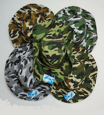 30pc Lot Camo Boonie Fishing Hats Army Military Camouflage Hunting Hat  w/ Snap