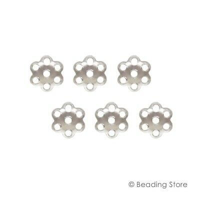 Various 925 Sterling Silver 6mm Bead Caps Cap Findings 1.1mm Hole BEADINGSTORE