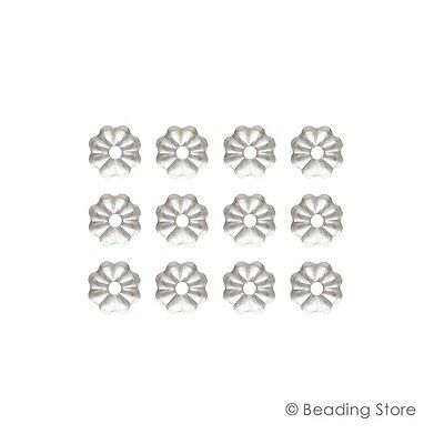 925 Sterling Silver Bead Caps 4.5mm Flower Fluted Cap 1.1mm Hole BEADINGSTORE