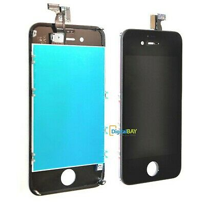 Touch Screen Lcd Display Retina + Frame Per Apple Iphone 4 4G Nero Vetro Schermo