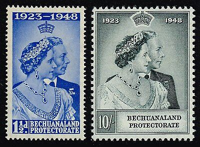 Bechuanaland 1948 Royal Silver Wedding set, MNH (SG#136/137)
