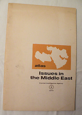 1973, Atlas, Issues in the Middle East, CIA Central Intelligence Agency