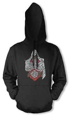 Bnwt Assassins Brother Creed Crusader Gaming Hoodie Hood Kids Childrens 3-12 Yrs