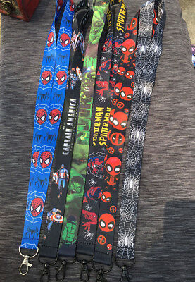 Avengers Justice League Harry Potter Card ID Badge Strap Neck Lanyard Key Chains