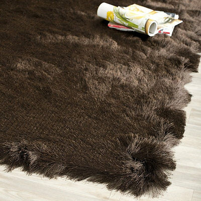 Safavieh Chocolate-brown Silken Contemporary Plush Runner Rug (2'3x8')