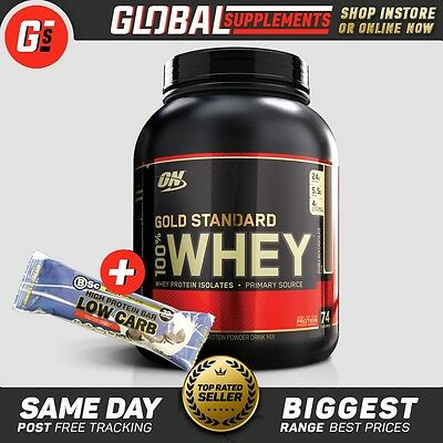 Optimum Nutrition 100% Gold Standard Whey Protein 5Lb + Free Anabolix Shaker