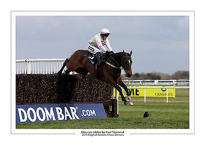 Douvan Paul Townend Aintree Maghull Novices 2016 Horse Racing A4 Print Photo