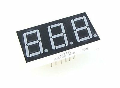 "0.36"" 3 Digit 7-Segment LED Display DIP common anode  - Red - Pack of 2"