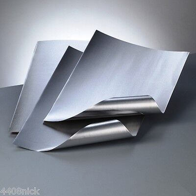 A4 ALUMINIUM EMBOSSING METAL SHEET SILVER / SILVER 0.15mm