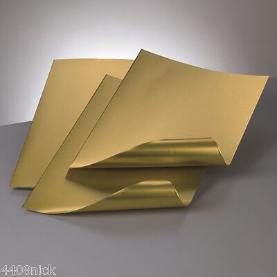 A4 ALUMINIUM EMBOSSING METAL SHEET GOLD / GOLD 0.15 mm
