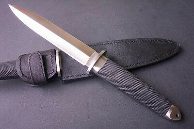 """13.3"""" SHARP High Quality BOOT DAGGER double blade camp survival hunting knife"""