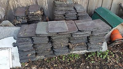 Vintage Slate Roof Shingles - Art Painting Deco -  Farmhouse - 3 Sizes - Montana