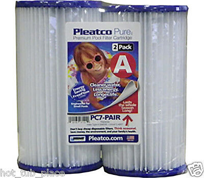 Pleatco Pc7 - 120 2 Pack Replacement Swimming Pool Hot Tub Spa Filter Cartridge