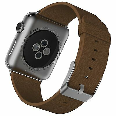 JETech 2104 Apple Watch Band 42mm Genuine Leather Replacement Wrist Strap Band