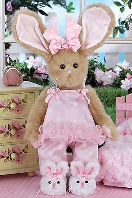 Bearington Bears Winnie Whiskertoes Plush Bunny Rabbit in Pink with Sippers