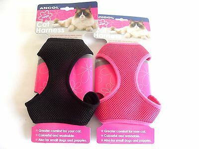 Ancol Cat Dog Harness & Lead set, Padded, Nylon, Breathable Mesh Harness