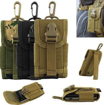 Outdoor Army Tactical Bag Cell Phone Belt Loop Hook Cover Case Pouch Holster B