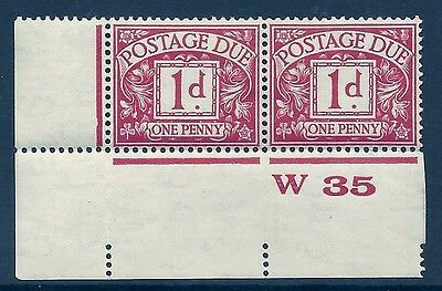 D11 1d Block Cypher Postage due Control W35 imperf UNMOUNTED MINT/MNH
