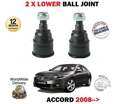 FOR HONDA ACCORD 2008->NEW LEFT + RIGHT 2x LOWER SUSPENSION WISHBONE BALL JOINTS