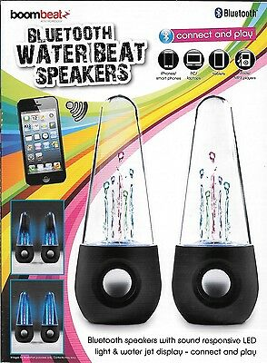 Large Boombeatz Bluetooth USB LED Dancing Water Speakers Music Fountain